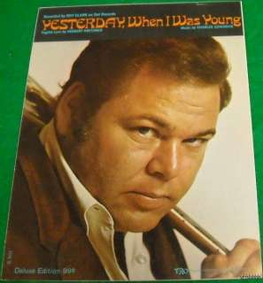 Sheet Music YESTERDAY WHEN I WAS YOUNG ROY CLARK 1966