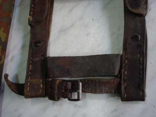 WWII ORIGINAL GERMAN TRENCH SHOVEL CARRIER   MARKED