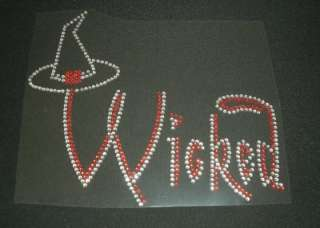Wicked Witch Hat Rhinestone Iron On Transfer Bling