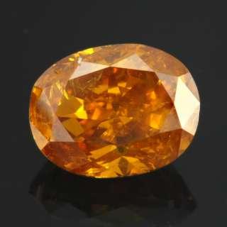 82ct Natural Fancy Deep Orange Loose Oval Diamond GIA