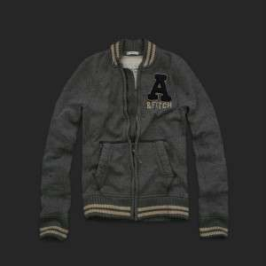 NEW ABERCROMBIE & FITCH A&F GREY Emmons Mountain Fleece Jacket #M
