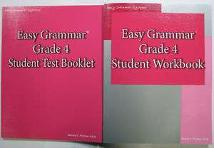 OF 2 Easy Grammar Grade 4 Workbook + Test Book 9780936981475