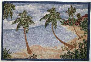 Palm Tree Tropical Placemat Tapestry Cloth Style H 1pc