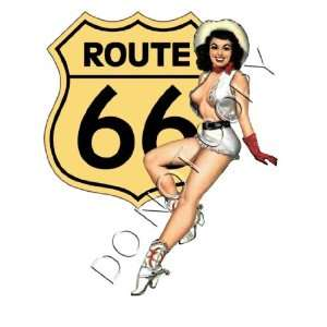 Sexy USA Route 66 Pinup Girl Decal s78 Musical