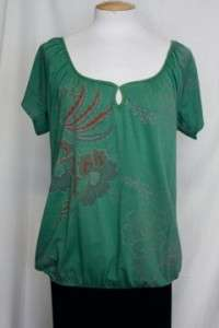 Language Los Angeles Anthropologie Green Shirt Top Small
