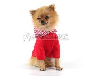 Cute Pet Dog clothes coat Pants Jumpsuit Hoodies Christmas cloths Sz S