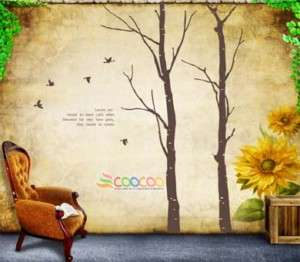 Wall Decor Decal Sticker vinyl large love tree trunk 90