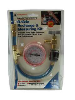 NEW R 134A RECHARGE MEASURING KIT AIR CONDITIONER CONDITIONING GAUGE