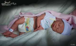 Real HUMAN Hair Eyelashes   PREEMIE Reborn Baby Girl Doll   PAIGE