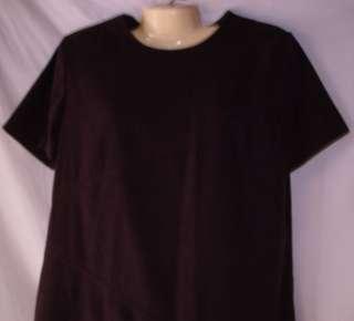 Womens Sag Harbor Purple Short Sleeved Dress Size 14P