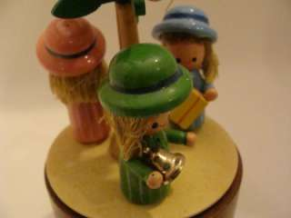 SCHMID 1981 Animated Music Box w/Three Girls Xmas Tree