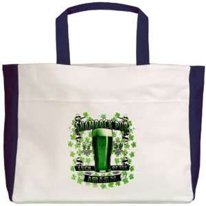 Beach Tote Navy Shamrock Pub Luck of the Irish 1759 St Patricks Day