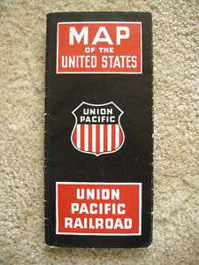 Orig 1946 UNION PACIFIC Railroad ROUTE MAP & BROCHURE