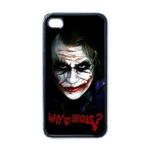 NEW iPhone 4 Hard Case Black Why So Serious Joker rare