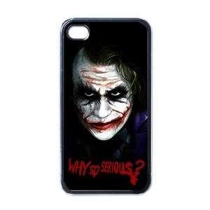 NEW iPhone 4 Hard Case Black Why So Serious Joker rare