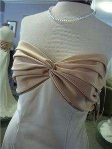 NWT Bari Jay, Evening Gowns, Formal Dresses, sz 10, #618, Creme Satin