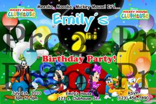Mickey Mouse Clubhouse Invitation   Digital File Only