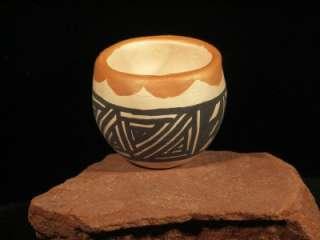 Mini ACOMA Pottery Bowl by Earlene Sanchez, Miniature Pueblo Native