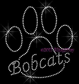 Paw Print Rhinestone Iron on Transfer Hot Fix Bling School Mascot Mom