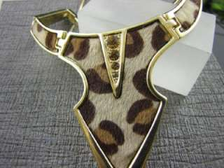 New Gold Tone Fashion Leopard Pattern Necklace Chains Earrings Set