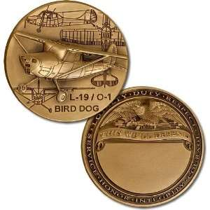 L 19 / O 1 Bird Dog Engravable Challenge Coin: Everything