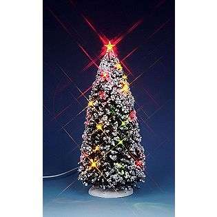 Large Lighted Christmas Tree, Battery Operated  Lemax Village
