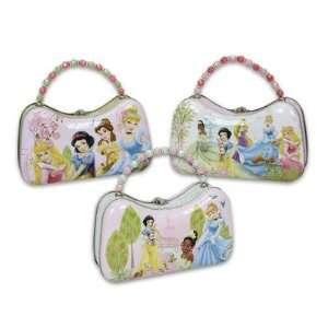 3PCs Disney Princess Tin Box / Tin Purse with Bead Handle