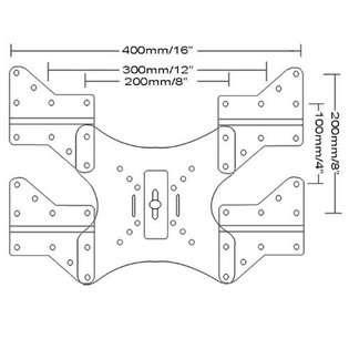 Universal VESA Adapter Plate LED LCD Plasma TV Wall Mount Bracket
