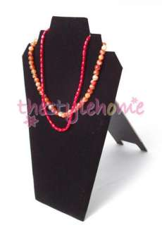 New Black Velvet Necklace Easel Jewelry Display Stand