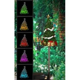Encore H5170 Solar Powered Color Changing Christmas Tree Garden Stake