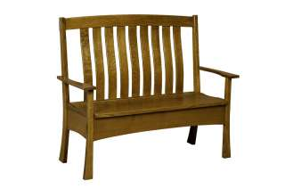 Amish Bench Wooden Wood Entry Benches Storage Seat New