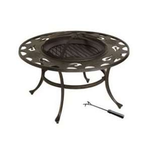 Harley Davidson Bar & Shield Flames Fire Pit