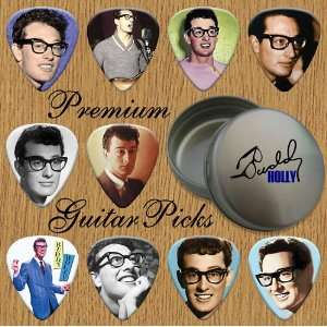 Buddy Holly Premium Guitar Picks X 10 In Tin (0) Musical Instruments