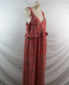 French Connection Womens Maternity Phoenix Print Maxi Dress Retail $