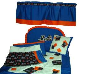 Baby Nursery Crib Bedding Set w/NY Mets fabric NEW YORK