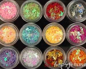 12 Colors Bunnies Spangles   Nail Art Box Set