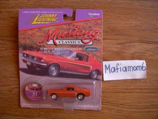 Mustang Classics Diecast Car NIP Ford Red 68 GT Collector #31
