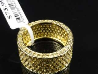 14k Gold Finish Eternity Wedding Ring Band 3 Color Available