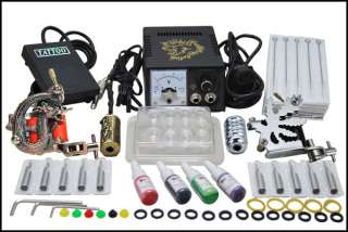Complete Tattoo Kit 2 Machine Gun Power Ink Set D53 3