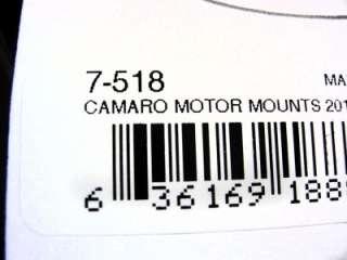 518 Gen 5 Camaro 6.2L V8 Billet Aluminum&Polyurethane Motor Mount Kit