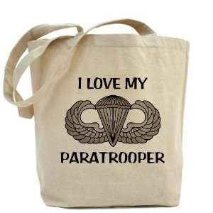 I love my paratrooper   jump wings Military Tote Bag by