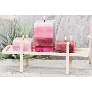 Pack of 4 Sand Rectangular Aromatherapy Brick Candle