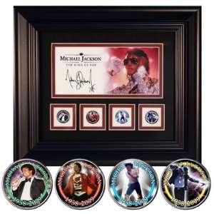 Michael Jackson Photo Glitter Framed Coins Set