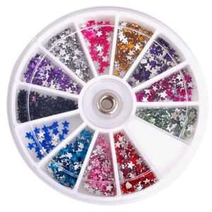1200X Star Nail Art Tips Glitter Rhinestones Decoration