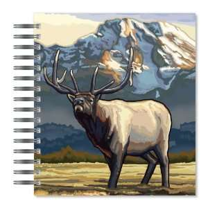 Roaming Elk Picture Photo Album, 18 Pages, Holds 72 Photos
