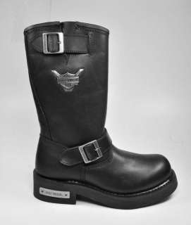 HARLEY DAVIDSON New Mega Conductor Motorcycle Black Boots 91135 WIDE