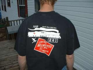St.P&P.RR Steam Loco 261 T Shirt,printed Frt & Back