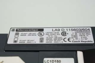 Schneider Telemecanique LC1D150 Motor Starter Contactor 250A 24V Coil