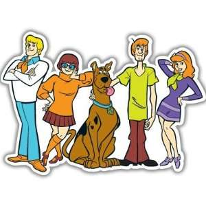 Scooby Doo Gang car bumper sticker decal 6 x 4