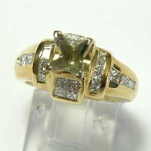 88CARAT DIAMOND 18K YELLOW GOLD ENGAGEMENT RING SEMI MOUNT Appraised